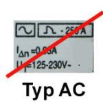 FI-Schutzschalter der Type AC